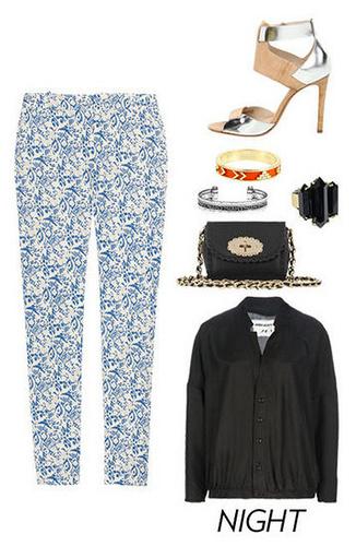 blue-med-slim-pants-print-black-jacket-bomber-black-bag-ring-bracelet-tan-shoe-sandalh-howtowear-fashion-style-outfit-spring-summer-dinner.jpg