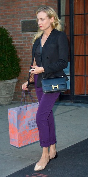purple-royal-slim-pants-black-tee-black-jacket-blazer-tan-shoe-flats-black-bag-newyork-dianekruger-howtowear-fashion-style-fall-winter-outfit-blonde-lunch.jpg