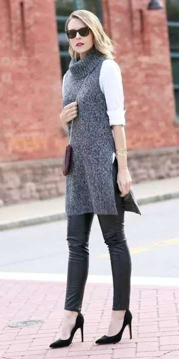 black-leggings-leather-layer-burgundy-bag-black-shoe-pumps-blonde-sun-grayd-sweater-sleeveless-fall-winter-lunch.jpeg