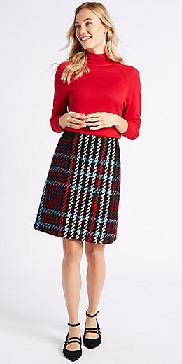 burgundy-aline-skirt-plaid-print-red-sweater-turtleneck-fall-winter-blonde-work.jpg