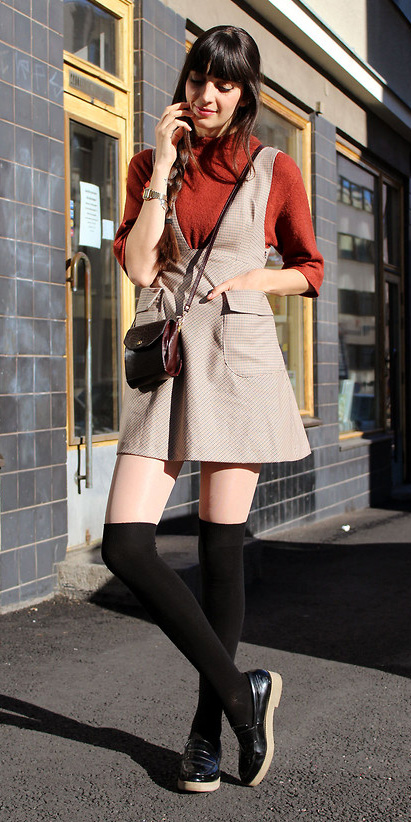 tan-dress-jumper-red-sweater-burgundy-bag-brun-socks-black-shoe-loafers-fall-winter-weekend.jpg