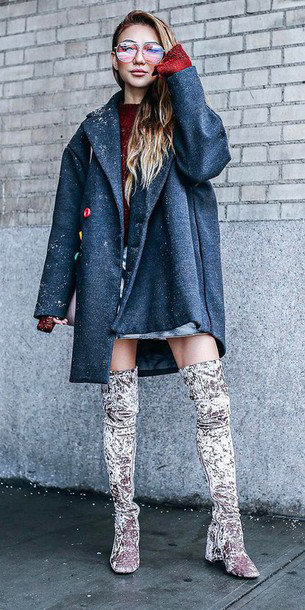red-sweater-gray-shoe-boots-otk-velvet-grayd-jacket-coat-fall-winter-blonde-lunch.jpg