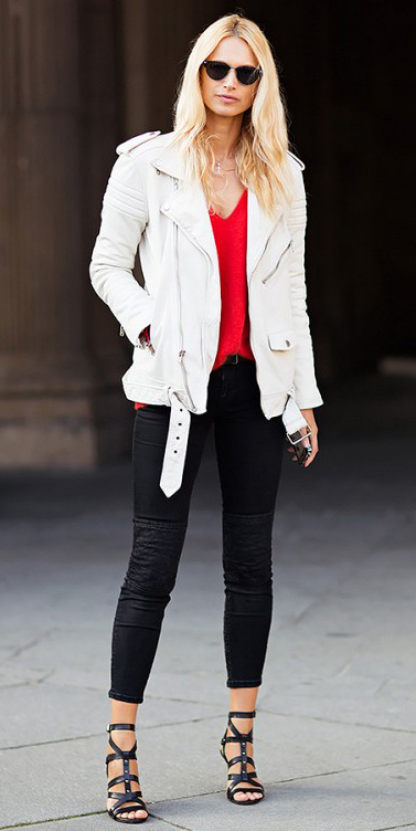 black-skinny-jeans-red-sweater-sun-black-shoe-sandalh-white-jacket-moto-spring-summer-blonde-dinner.jpg