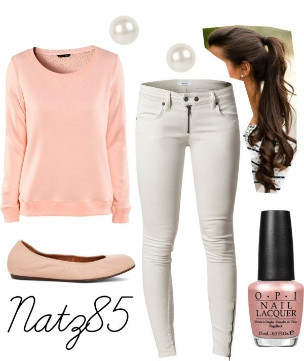 white-skinny-jeans-o-peach-sweater-howtowear-fashion-style-outfit-spring-summer-sweatshirt-tan-shoe-flats-pearl-studs-brun-nail-pony-weekend.jpg