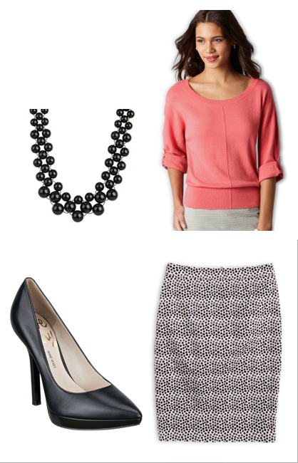 white-pencil-skirt-o-peach-sweater-necklace-black-shoe-pumps-print-howtowear-fashion-style-outfit-spring-summer-hairr-work.jpg