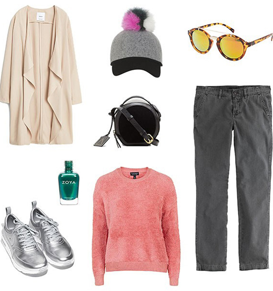 grayd-chino-pants-o-peach-sweater-tan-cardiganl-hat-cap-sun-black-bag-nail-gray-shoe-sneakers-fall-winter-style-fashion-wear-weekend.jpg