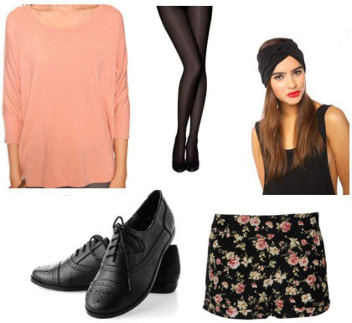 black-shorts-o-peach-sweater-floral-black-tights-black-shoe-brogues-head-howtowear-fashion-style-outfit-fall-winter-hairr-weekend.jpg