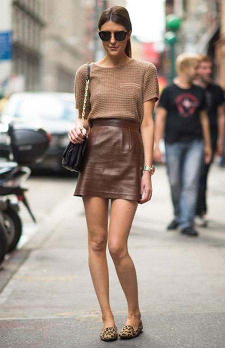 brown-mini-skirt-camel-sweater-tan-shoe-loafers-leopard-print-black-bag-brun-pony-sun-fall-winter-weekend.jpg