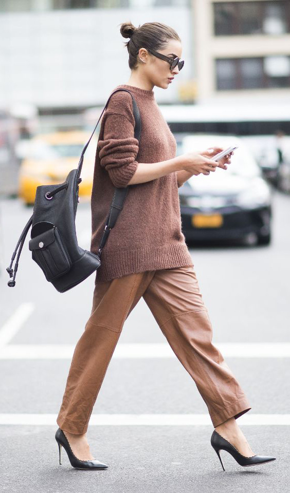 camel-slim-pants-camel-sweater-black-bag-pack-sun-bun-black-shoe-pumps-oliviaculpo-fall-winter-hairr-lunch.jpg