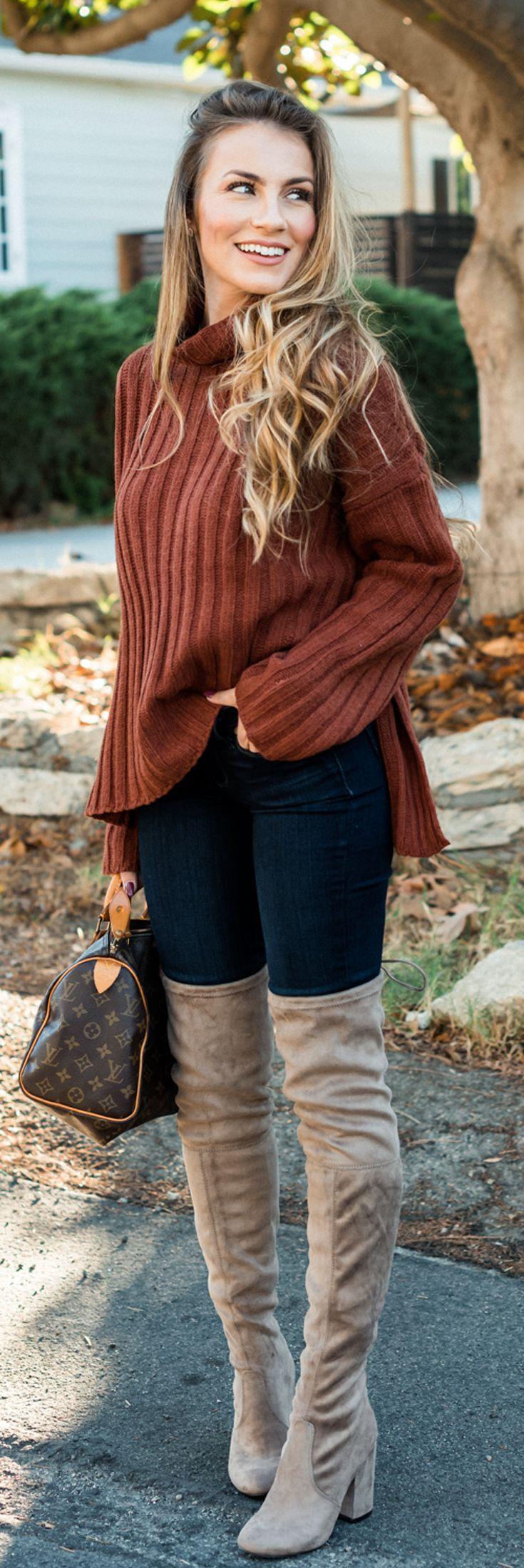 black-skinny-jeans-tan-shoe-boots-otk-camel-sweater-turtleneck-blonde-brown-bag-fall-winter-lunch.jpg
