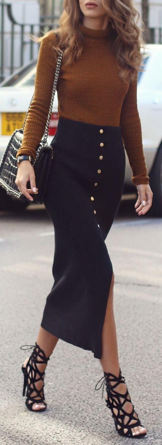 black-midi-skirt-camel-sweater-turtleneck-black-bag-black-shoe-sandalh-spring-summer-hairr-dinner.jpg