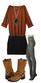 black-mini-skirt-o-camel-sweater-gray-tights-necklace-pend-tan-shoe-booties-howtowear-fashion-style-outfit-fall-winter-lunch.jpg