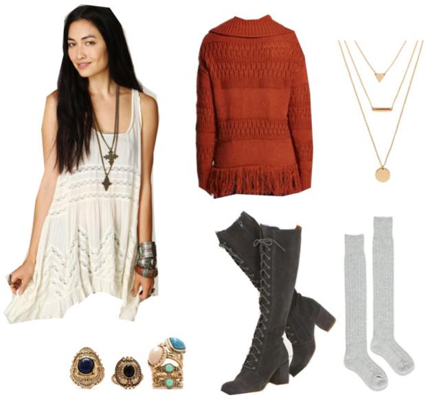 white-dress-orange-sweater-gray-shoe-boots-tank-fashion-style-outfit-fall-winter-mini-socks-necklace-boho-slouchy-brunette-lunch.jpg