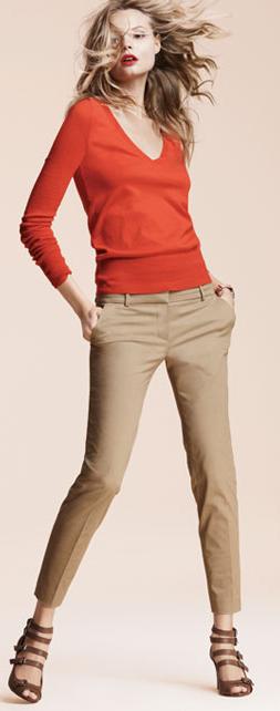 o-tan-slim-pants-orange-sweater-brown-shoe-sandalh-spring-summer-blonde-lunch.jpg