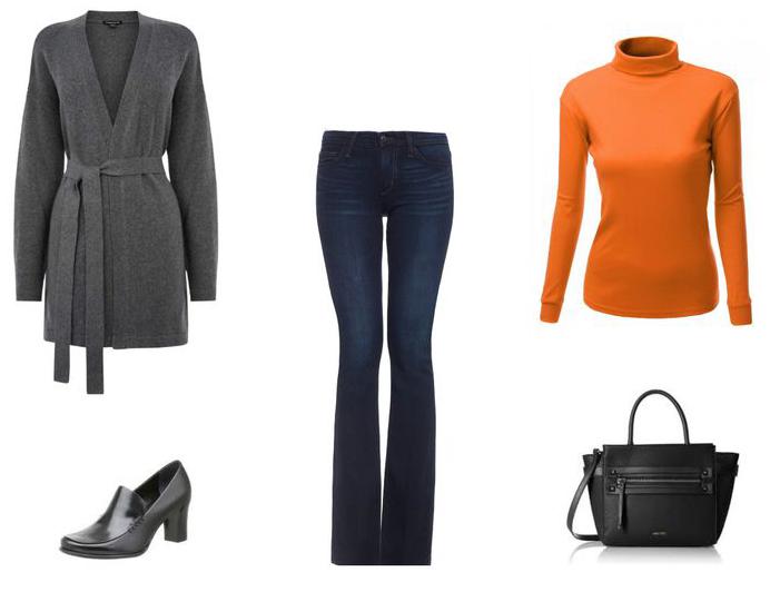 blue-navy-flare-jeans-orange-sweater-turtleneck-grayd-cardiganl-fall-winter-work.jpg