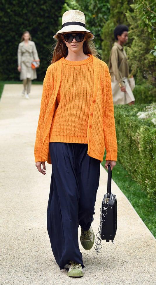 blue-navy-wideleg-pants-orange-sweater-shell-orange-cardigan-hat-sun-blonde-green-shoe-sneakers-fall-winter-lunch.jpg