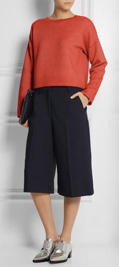 black-culottes-pants-orange-sweater-gray-shoe-brogues-metallic-fall-winter-lunch.jpg