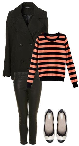 black-skinny-jeans-orange-sweater-stripe-black-jacket-coat-white-shoe-flats-howtowear-fashion-style-outfit-fall-winter-weekend.jpg