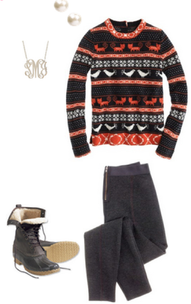 black-leggings-orange-sweater-black-shoe-boots-pearl-studs-necklace-howtowear-fashion-style-outfit-fall-winter-fairisle-apreski-ski-snow-weekend.jpg