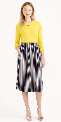 blue-navy-midi-skirt-yellow-sweater-necklace-stripe-wear-outfit-spring-summer-white-shoe-sandalh-jcrew-blonde-lunch.jpg