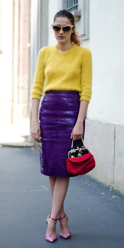 purple-royal-pencil-skirt-yellow-sweater-fuzz-red-bag-sun-pony-pink-shoe-pumps-fall-winter-hairr-dinner.jpg