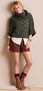 o-brown-shorts-white-collared-shirt-howtowear-fashion-style-outfit-fall-winter-cognac-shoe-booties-green-olive-sweater-turtleneck-bun-blonde-lunch.jpg