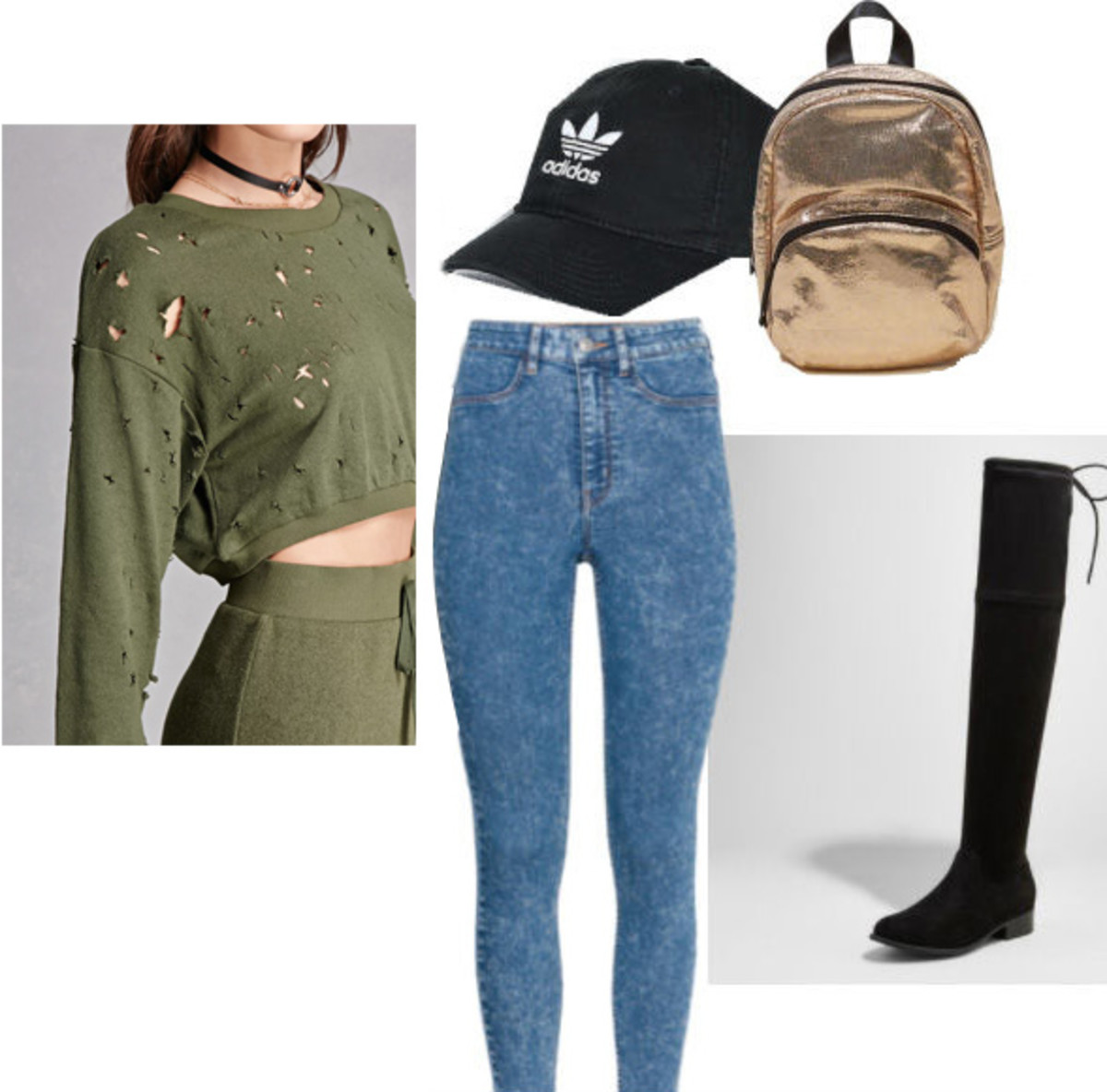 blue-med-skinny-jeans-black-shoe-boots-tan-bag-pack-hat-cap-green-olive-sweater-sweatshirt-fall-winter-weekend.jpg