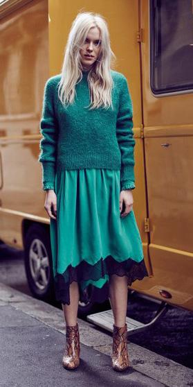 green-emerald-midi-skirt-green-emerald-sweater-cognac-shoe-booties-blonde-fall-winter-weekend.jpg