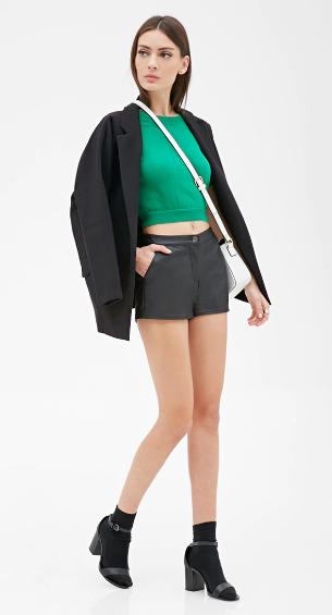 black-shorts-green-emerald-sweater-crop-howtowear-fashion-style-outfit-spring-summer-white-bag-socks-black-shoe-sandalh-black-jacket-blazer-brun-lunch.jpg