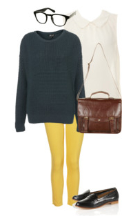 yellow-skinny-jeans-white-top-blouse-green-dark-sweater-brown-bag-black-shoe-loafers-howtowear-fashion-style-outfit-fall-winter-lunch.jpg