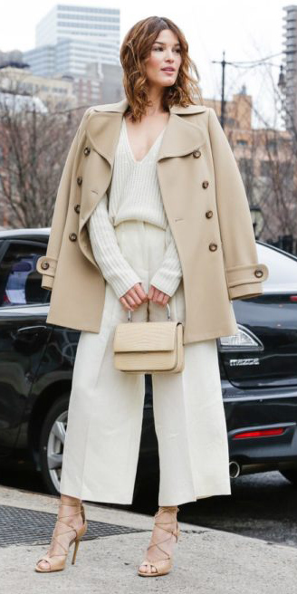 white-culottes-pants-white-sweater-white-bag-tan-shoe-sandalh-hairr-tonal-tan-jacket-coat-peacoat-fall-winter-lunch.jpg