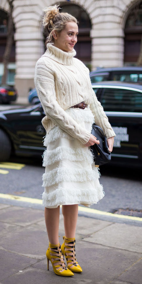 white-midi-skirt-white-sweater-turtleneck-pony-belt-yellow-shoe-pumps-fall-winter-blonde-lunch.jpg