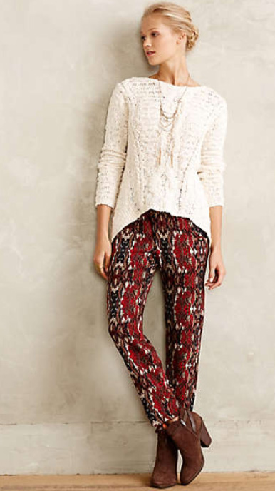 red-joggers-pants-zprint-white-sweater-necklace-brown-shoe-booties-bun-anthropologie-outfit-wear-style-fashion-fall-winter-blonde-lunch.jpg