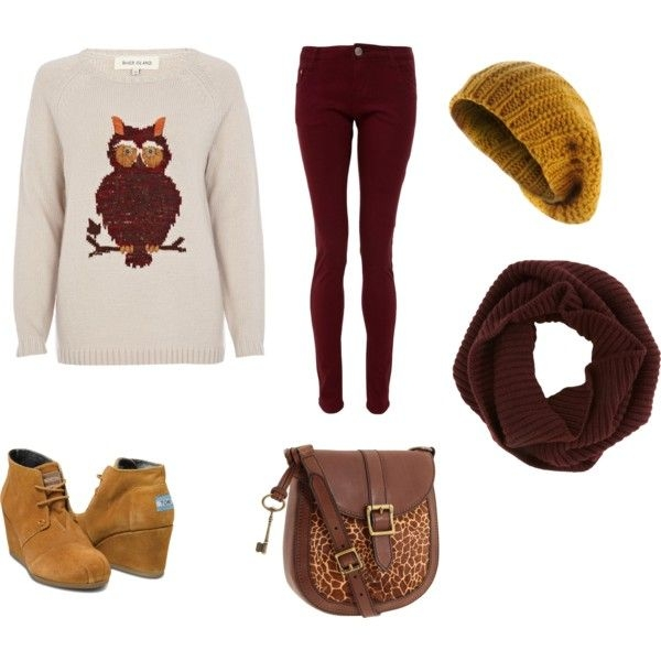 burgundy-skinny-jeans-cognac-bag-burgundy-scarf-beanie-white-sweater-yellow-shoe-booties-fall-winter-weekend.jpg