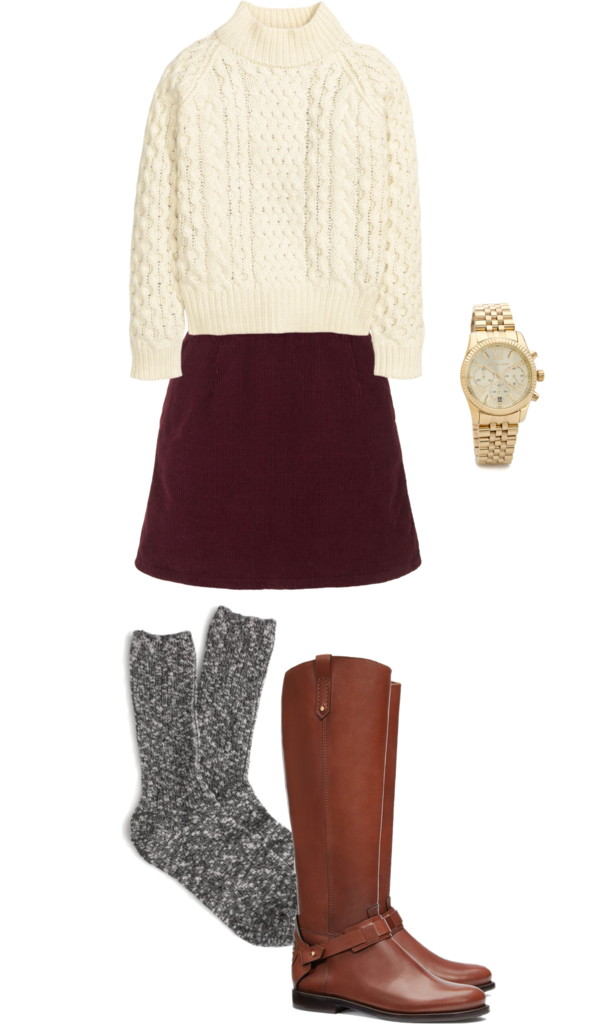 burgundy-mini-skirt-white-sweater-socks-cognac-shoe-boots-watch-holiday-thanksgiving-fall-winter-lunch.jpg