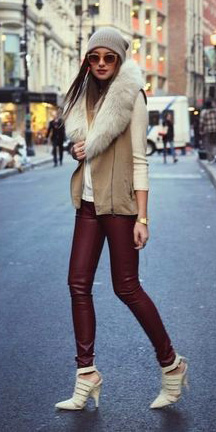 burgundy-leggings-white-sweater-tan-vest-sun-beanie-white-shoe-pumps-fall-winter-hairr-lunch.jpg