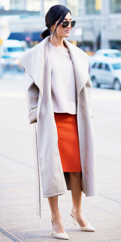 orange-pencil-skirt-white-sweater-tan-jacket-coat-white-shoe-pumps-pony-sun-howtowear-fashion-style-outfit-spring-summer-brun-work.jpg