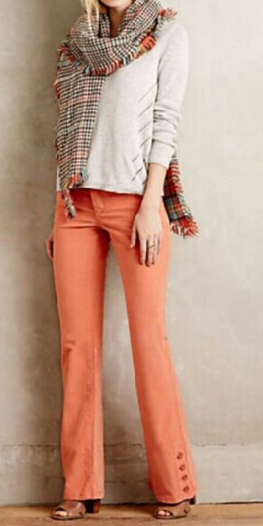 peach-flare-jeans-white-sweater-orange-scarf-print-plaid-cognac-shoe-sandalh-fall-winter-lunch.jpg