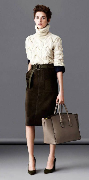 brown-pencil-skirt-white-sweater-turtleneck-belt-fall-winter-hairr-work.jpg