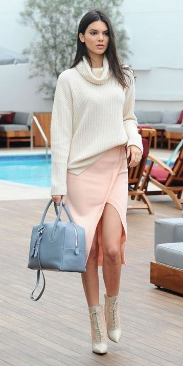 peach-pencil-skirt-white-sweater-turtleneck-blue-bag-brun-white-shoe-booties-kendaljenner-fall-winter-lunch.jpg