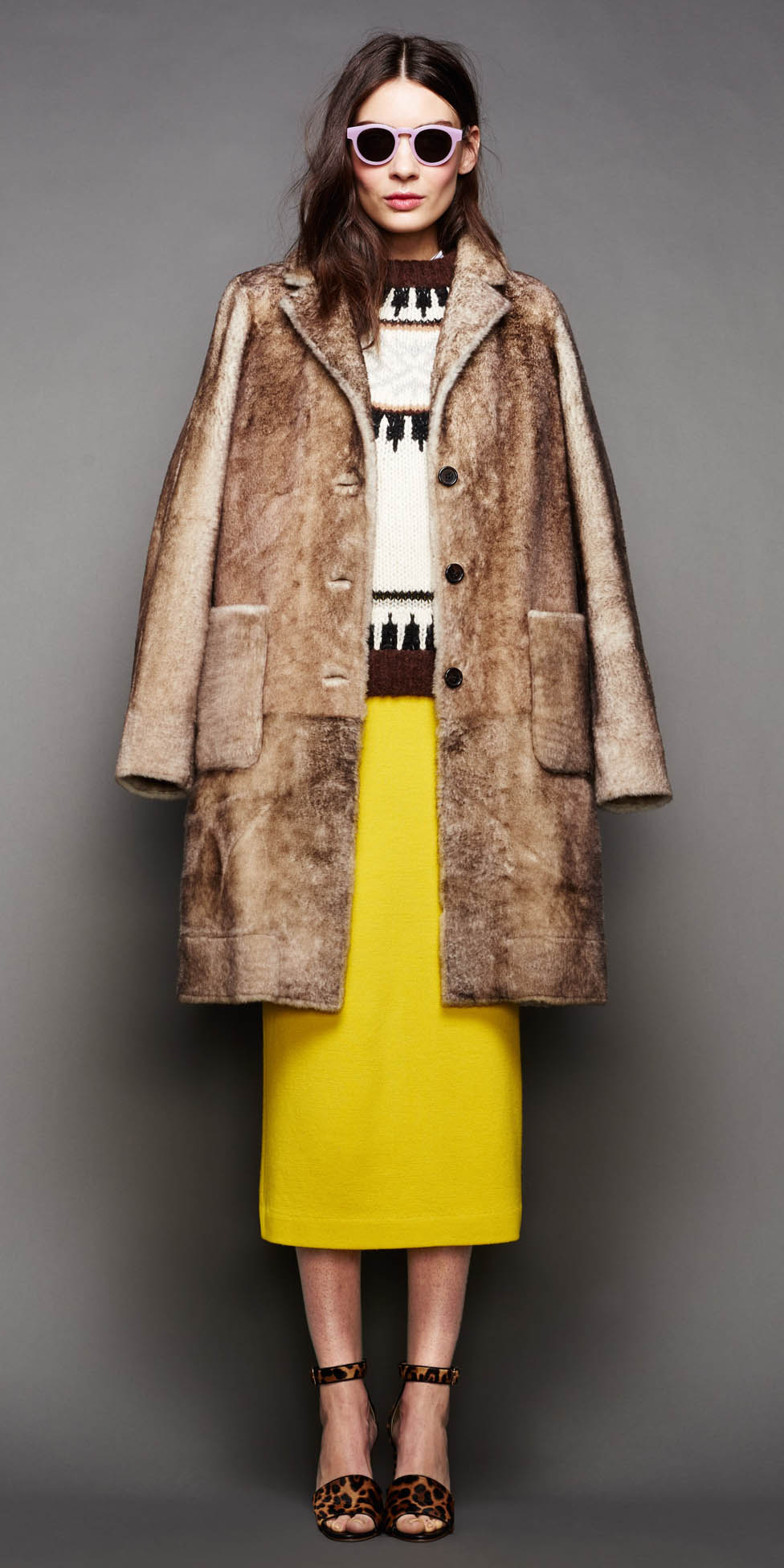 yellow-midi-skirt-white-sweater-brown-shoe-sandalh-leopard-print-sun-jcrew-camel-jacket-coat-fall-winter-hairr-lunch.jpg