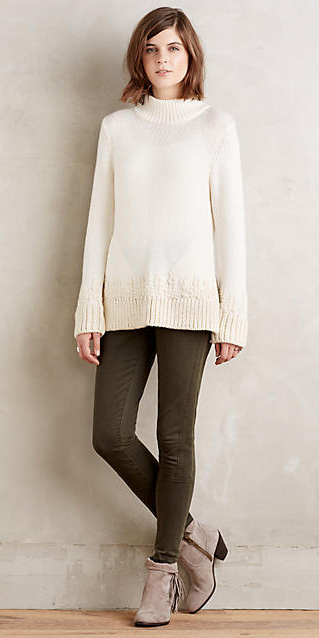 green-olive-leggings-white-sweater-wear-outfit-fashion-fall-winter-tan-shoe-booties-hairr-anthropologie-weekend.jpg