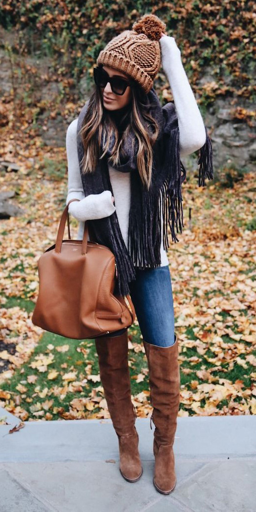 blue-med-skinny-jeans-white-sweater-grayd-scarf-cognac-bag-cognac-shoe-boots-beanie-sun-hairr-fall-winter-thanksgiving-outfits-weekend.jpg