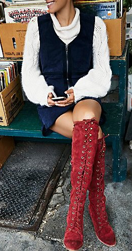 blue-navy-dress-jumper-white-sweater-red-shoe-boots-fall-winter-lunch.jpg