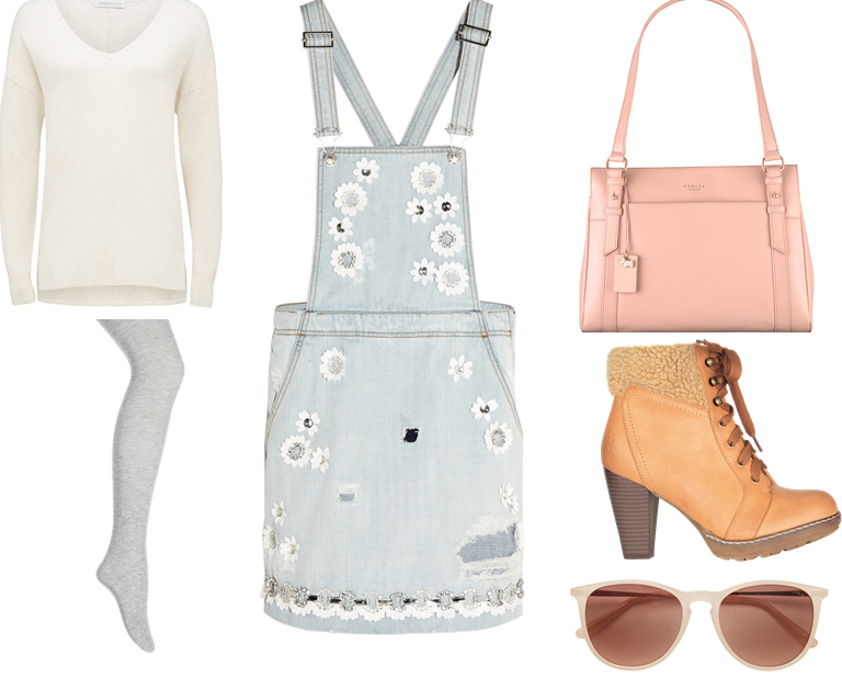 blue-light-dress-jumper-denim-white-sweater-gray-tights-sun-pink-bag-tan-shoe-booties-fall-winter-weekend.jpg