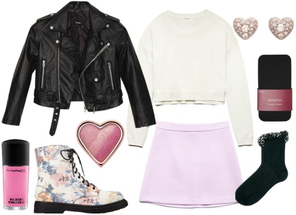 purple-light-mini-skirt-white-sweater-black-jacket-moto-white-shoe-booties-black-tights-socks-studs-nail-fall-winter-weekend.jpg