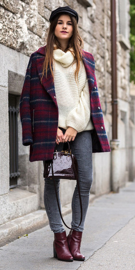 grayd-skinny-jeans-white-sweater-turtleneck-hat-newsboy-burgundy-shoe-booties-burgundy-bag-plaid-print-burgundy-jacket-coat-fall-winter-hairr-weekend.jpg