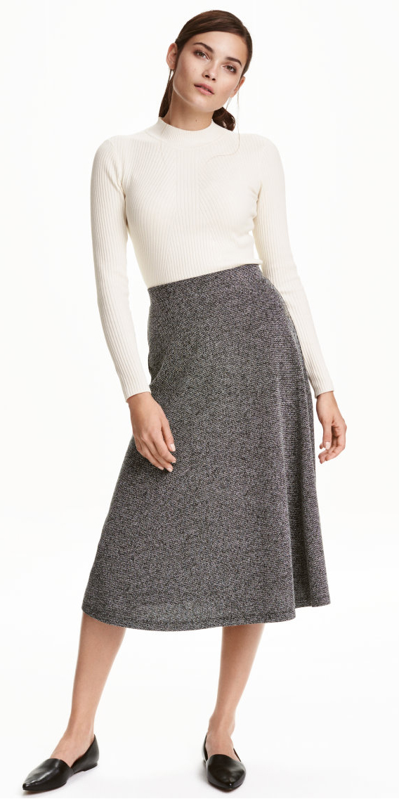 grayl-midi-skirt-white-sweater-pony-wear-outfit-fall-winter-black-shoe-flats-fashion-brun-work.jpg