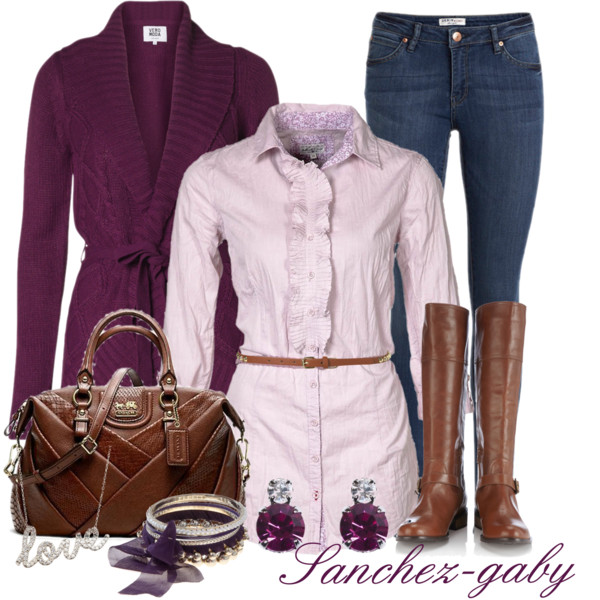 blue-navy-skinny-jeans-r-pink-light-collared-shirt-purple-royal-cardiganl-skinny-belt-earrings-brown-bag-brown-shoe-boots-howtowear-fashion-style-fall-winter-outfit-lunch.jpg