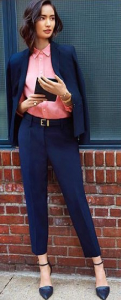 blue-navy-joggers-pants-r-pink-light-collared-shirt-blue-navy-jacket-blazer-belt-bun-blue-shoe-pumps-wear-style-fashion-spring-summer-suit-brun-work-office.jpg